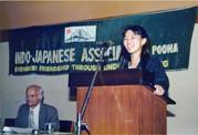 印日協会のスピーチコンテストにゲストで招かれて
